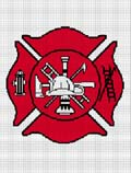 FIRE FIGHTER FIREFIGHTER MALTESE CROSS DEPT