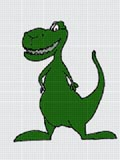 crochet afghan pattern green dinosaur