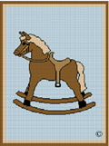 crochet afghan pattern brown rocking horse