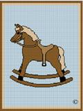 crochet afghan pattern brown rocking horse