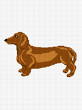 brown dachshund dog crochet pattern