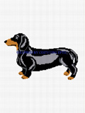 black dachshund dog crochet pattern