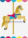 carousel horse crochet afghan pattern