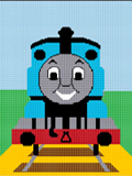 crochet afghan pattern thomas the train tank engine