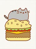 pusheen fat gray cat  crochet pattern