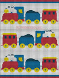 crochet afghan pattern choo choo train engine