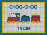 crochet afghan pattern train