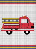 crochet afghan pattern toy  fire truck