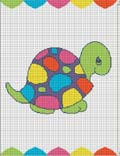 crochet afghan pattern turtle colorful