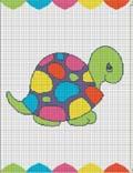 crochet afghan pattern turtle colorful