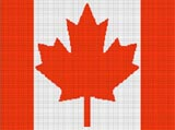 canada canadian maple leaf flag crochet pattern graph afghan
