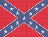 confederate rebel flag crochet pattern graph afghan