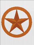 primitive rustic star  flag crochet pattern graph afghan
