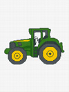 green yellow tractor john deere look crochet pattern