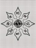 ninja throwing star weapon afghan crochet pattern