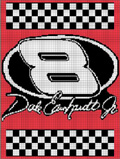 dale earnhardt jr old 8 sign crochet pattern