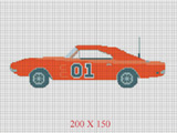 general lee car 01 dukes of hazard crochet pattern