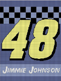 JIMMIE JIMMY JOHNSON 48 CROCHET PATTERN