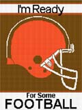 orange brown football helmet